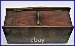 Barn Find Victorian Hand-painted Shop Counter / Waiters Cigar Humidor / Box