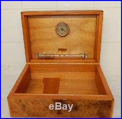 BelRive of Paris Figured Walnut Cigar Humidor (Z)