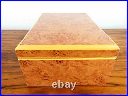 Birds Eye Maple Wood Humidor Romeo Juliet Cigar Tube Leather Travel Storage Case