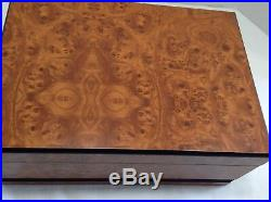 Birdseye Maple Humidor hygrometer 12 x 8 1/2 x 5
