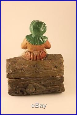 Black Americana Mammy Sculpture Johann Maresch Tobacco Jar Pottery #3499 Signed