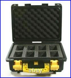 Black Invicta Watch Padded Large Hard case make a great Cigar Humidor