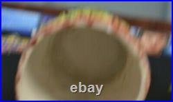 Black Man On Watermelon Holding Pipe Ceramic Tobacco Holder Or Cookie Jar 11+1/2