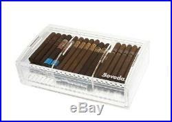 Boveda Large Acrylic Humidor Holds 75 Cigars