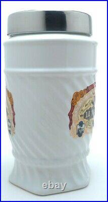 CAO La Traviata Ceramic Cigar Tobacco Jar Humidor Stainless Glass Lid