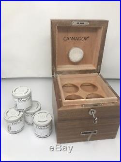 Cannabis & Herbs Humidor Cannador 4 jars