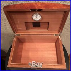 Cartier Humidor 75 Cigar Case With Hygrometer Wooden Brown Limited Edition Key