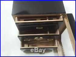 Cigar Cabinet Humidor with Hygrometer & Humidifier, Spanish Cedar Wood Lined