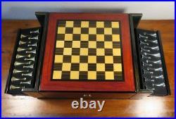 Cigar Humidor Chess Set Wonderful High Gloss Cedar & Teak Wood