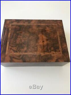 Cigar Humidor Walnut Veneer And Inlaid