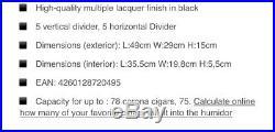 Cigar humidor Adorini Vega Black