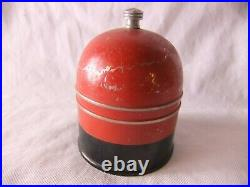 Cigarette Humidor Vintage 1935 Soloman Shapiro Red Bell Bakelite Base Tobacciana