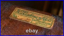 Cushman Antique Humidor Cigar Smoke Stand, Tobacciana with Ashtray
