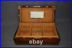 Custom Made Antique English Regency Inlaid Rosewood Humidor
