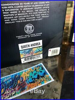 DREW ESTATE ACID KUBA DE ARTEempty CIGAR WATERTOWER Humidor Queen Andrea