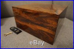 DUNHILL Humidor, Perfect with humidity/temperature gauges & key, Cigar Box