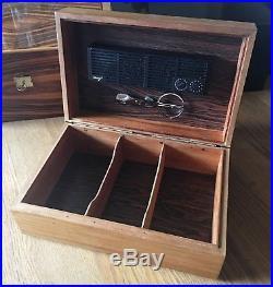 Davidoff Humidor, Palisander, inkl. Davidoff Zigarren Schere, schöner Zustand