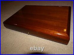 Davidoff cigar box Humidor polished wood Mahogany brass slim