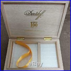 Davidoff's 100th anniversary cigar box empty box small humidor limited used