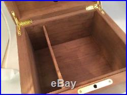 Dunhill Alfred Special Edition Maplewood Burl Lacquer Cigar Humidor Humidifier