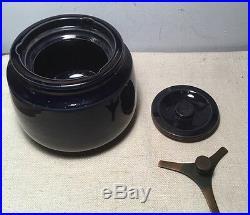 Dunhill England Antique Navy Blue Ceramic Glazed Tobacco Humidor