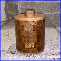 E. B. For Dunhill Handmade 1/1 Burl Wood Checkerboard Humidor Pipe Holder Box EB
