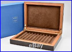 ELIE BLEU Macassar Ebony Box for 10 Pens with Lining in Velvet Goat Made in France