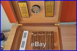 ELIE BLEU Paris Walnut Burl Humidor Tabletier 110 Cigars VINTAGE