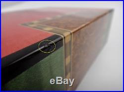 ELIE BLEU Perroquet Multi Color Cuff links box. Made in France, Paris