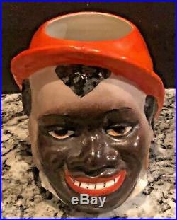 Early Black Americanasmoking Set2 Blk Boy Jarsblk Woman Pipe Holderaustria