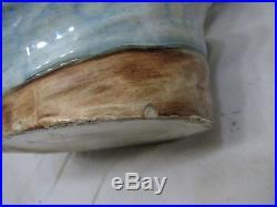 Early Figural Pipe Tobacco Jar Head Bavarian Cap Man Bust Humidor Character