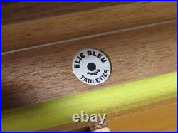 Elie Bleu Humidor Cigar Case With Hygrometer Wooden Black Very good condition