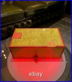 Elie Bleu Humidor, Flor Fina, bis zu 120 Zigarren, wunderschön, NP über 3.000