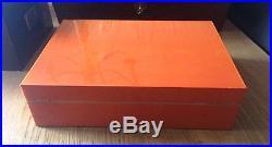 Elie Bleu Humidor Fruit Orange wunderschöner Zustand, 110 Zigarren, 40x30x11,2 cm