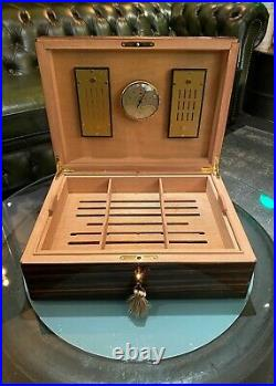 Elie Bleu Humidor, Macassar, bis zu 140 Zigarren, wunderschön, NP über 3.000