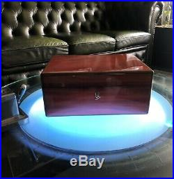Elie Bleu Humidor, wunderschöner Zustand, perfekt für 75-100Zigarren, High End