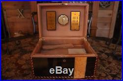 Elie Bleu Mahogany Humidor 100 Count cigar box