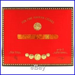 Elie Bleu Medaillen Rot Humidor (75 Zigarren) Flor Fina mit / Original Schlüssel