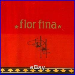 Elie Bleu Medals Medailles Red Humidor (75 Cigars) Flor Fina with Original Key