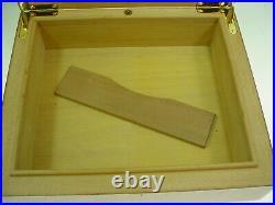 Elie Bleu Paris Humidor Amboyna Burl 50 Count Tabletier Beautiful Condition