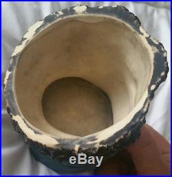 Exceptional Antique Bernhard Bernard Bloch Black Memorabilia Tobacco Jar Humidor