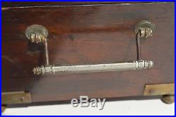 Fantastic Antique Victorian Era Bevel Glass Top Wooden Humidor Made In New York