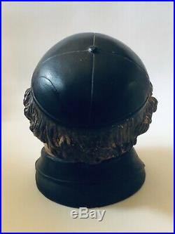Figural Monk Friar Humidor Tobacco Jar Antique Czech Bernard Bloch Terra Cotta