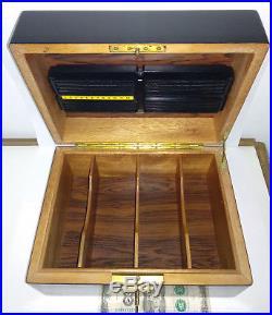GREAT DAVIDOFF BLACK CIGAR HUMIDOR TOBACCO Rosewood BLACK wooden CASE box