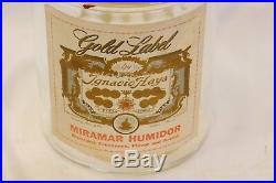 Gold Label Ignacio Haya Cigar Jar Humidor 8 T 6 W Gradiaz Annis Tampa FL 1930