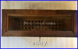 Gorgeous Vintage Fernandez de Cordoba Wood And Glass Humidor