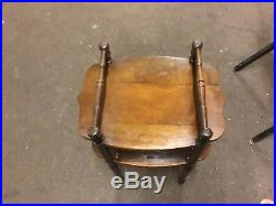 Great 1930S Walnut Smoking Stand Humidor Copper Lined