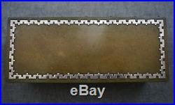 HEINTZ ART METAL Sterling on Bronze #4095 HUMIDOR Cedar Interior 8 1/2
