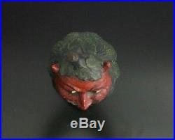 HUMIDOR ANTIK 1880-1890 Germany BERNHARD BLOCH BB signed TOBACCO JAR DEVIL RARE