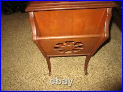HUMIDOR tobacco pipe cigar magazine end table stand cabinet steel painted box